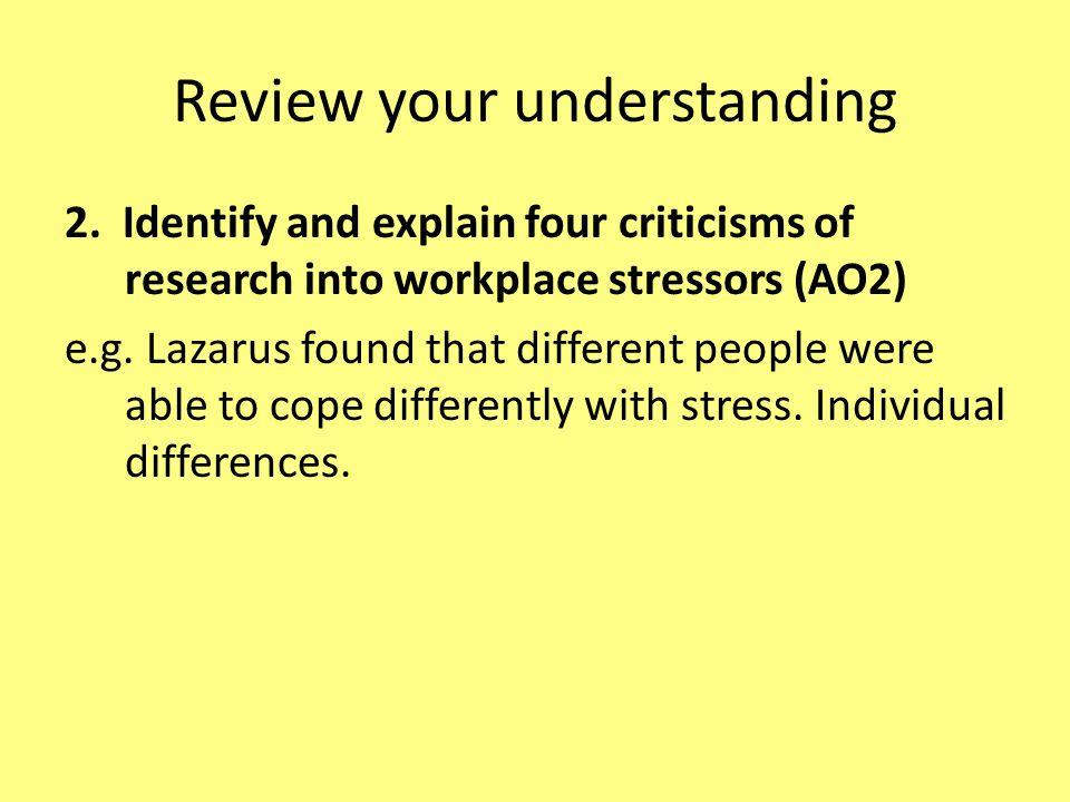 Review your understanding