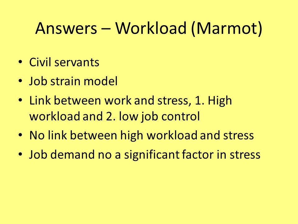 Answers – Workload (Marmot)