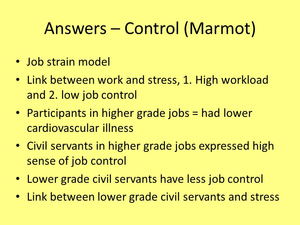 Answers – Control (Marmot)