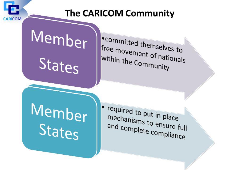 Member States Member States The CARICOM Community