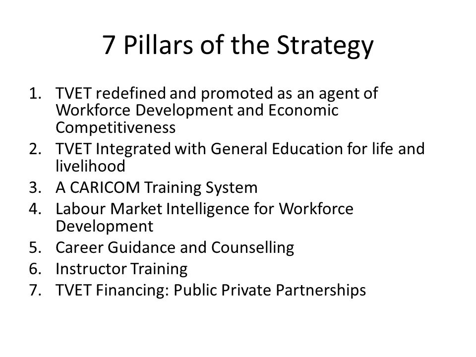 7 Pillars of the Strategy