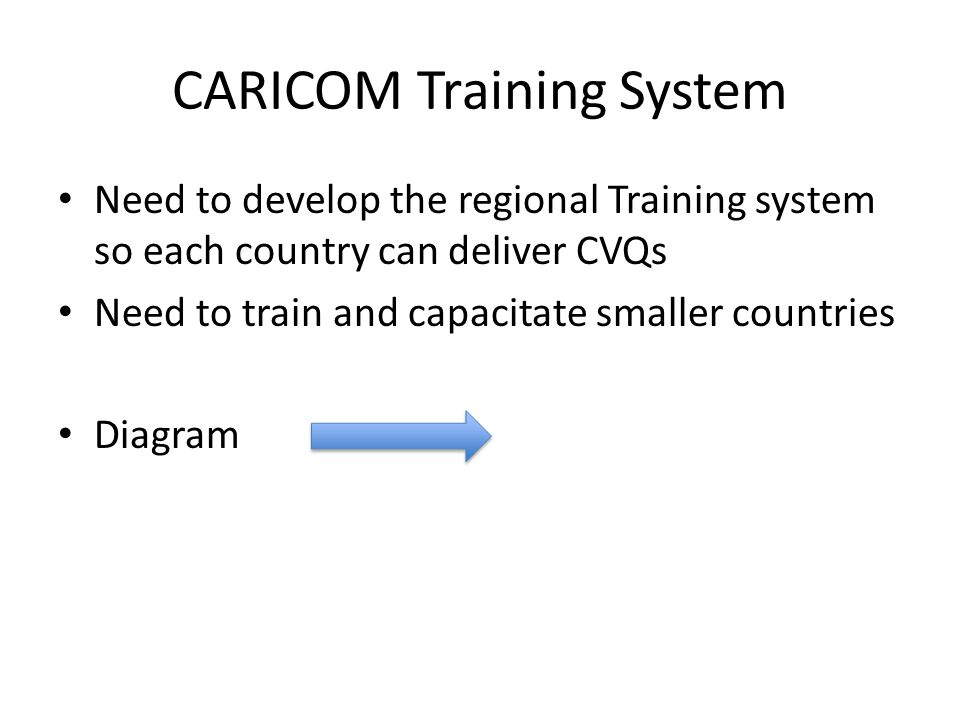 CARICOM Training System