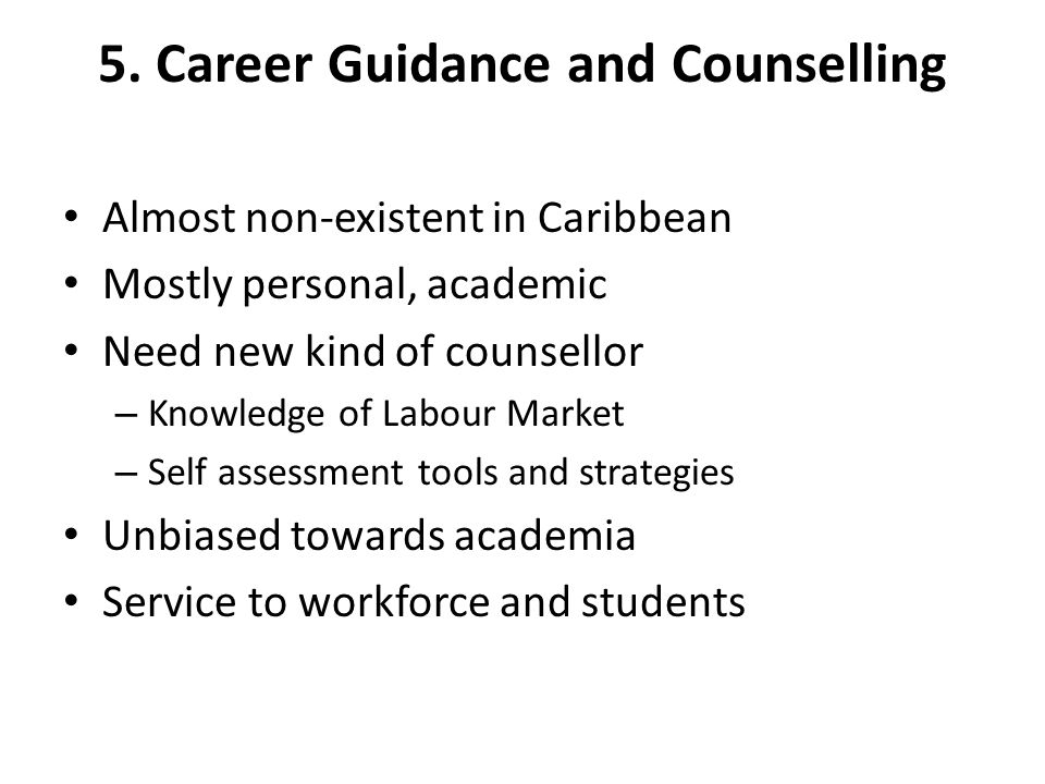 5. Career Guidance and Counselling