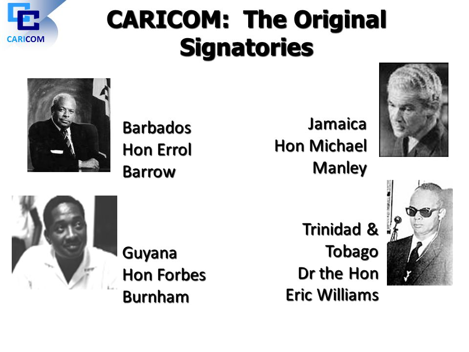 CARICOM: The Original Signatories