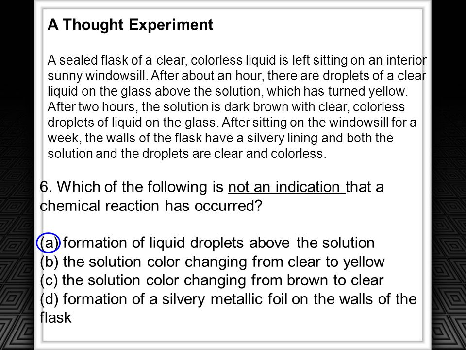 (a) formation of liquid droplets above the solution