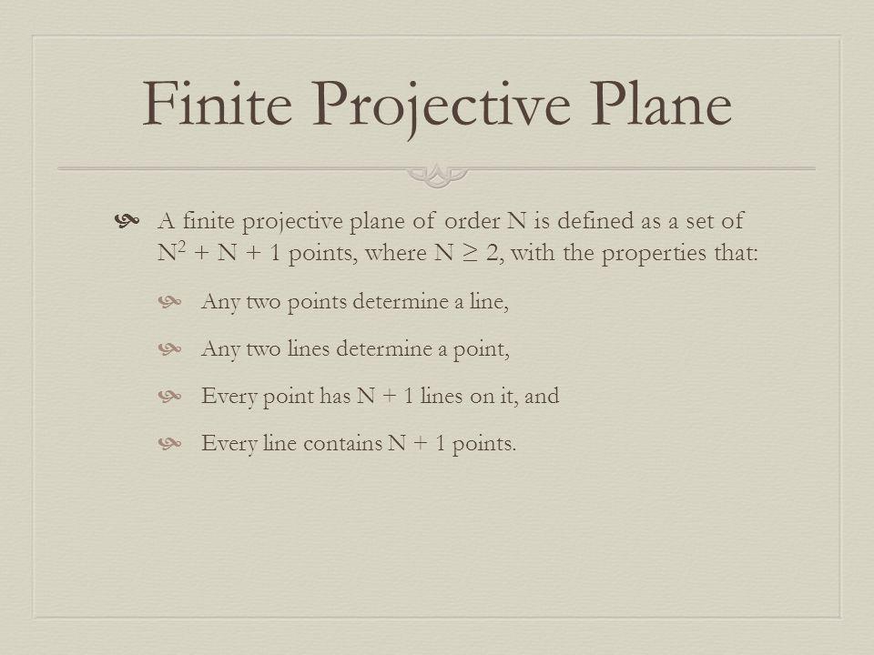 Finite Projective Plane