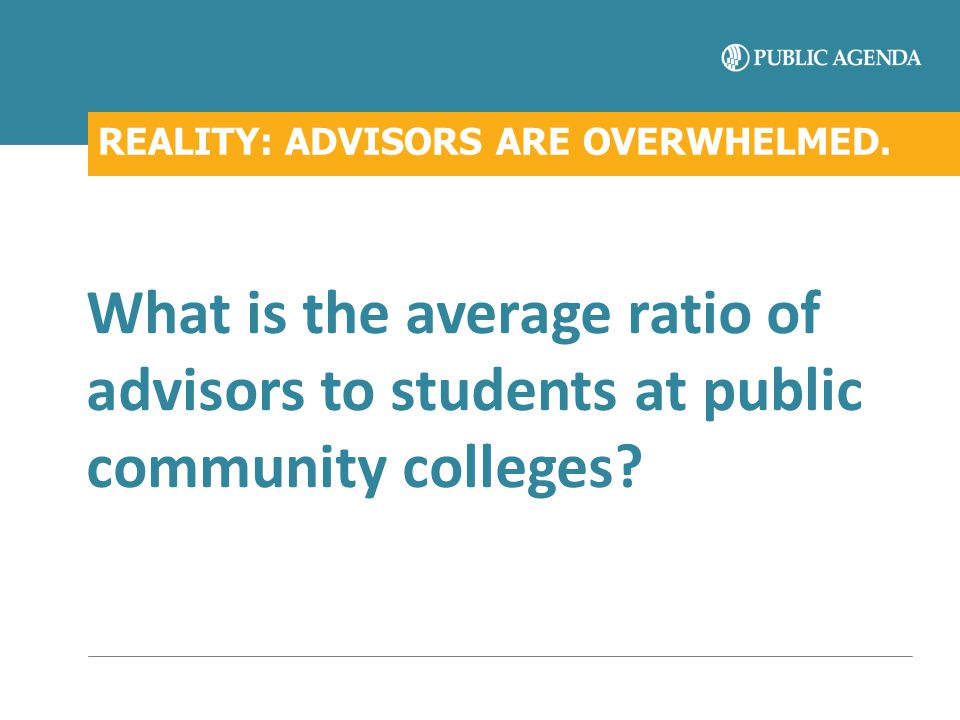 REALITY: ADVISORS ARE OVERWHELMED.
