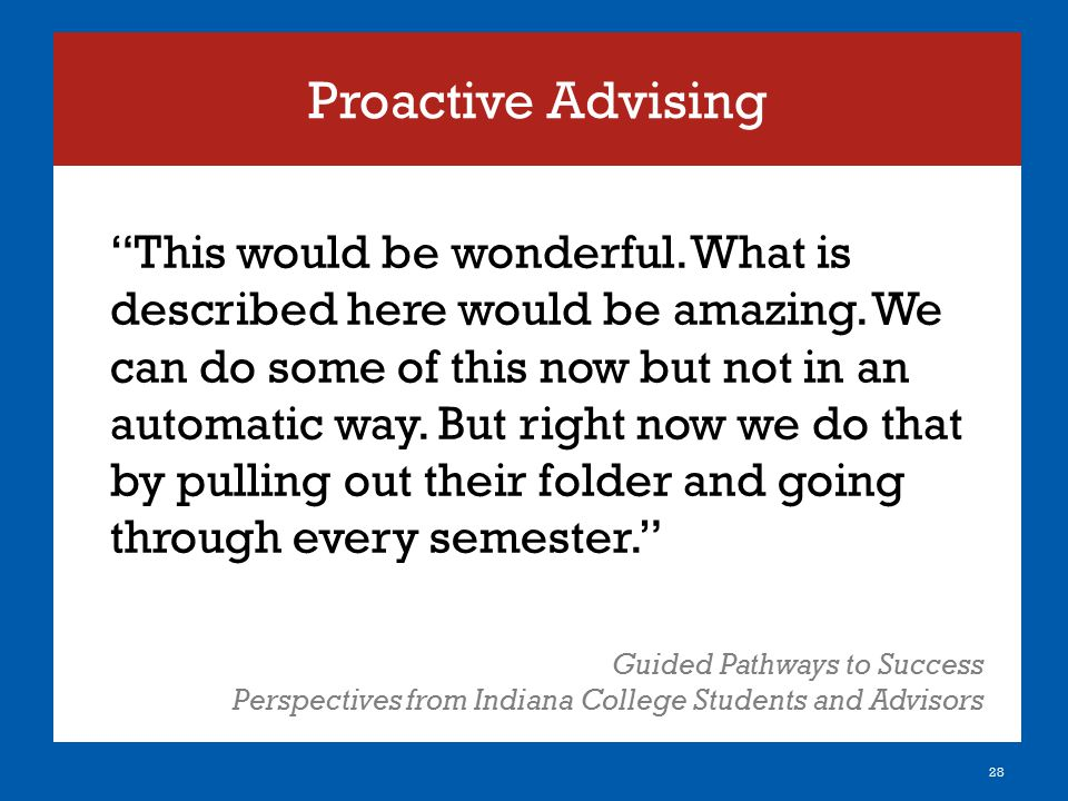 Proactive Advising