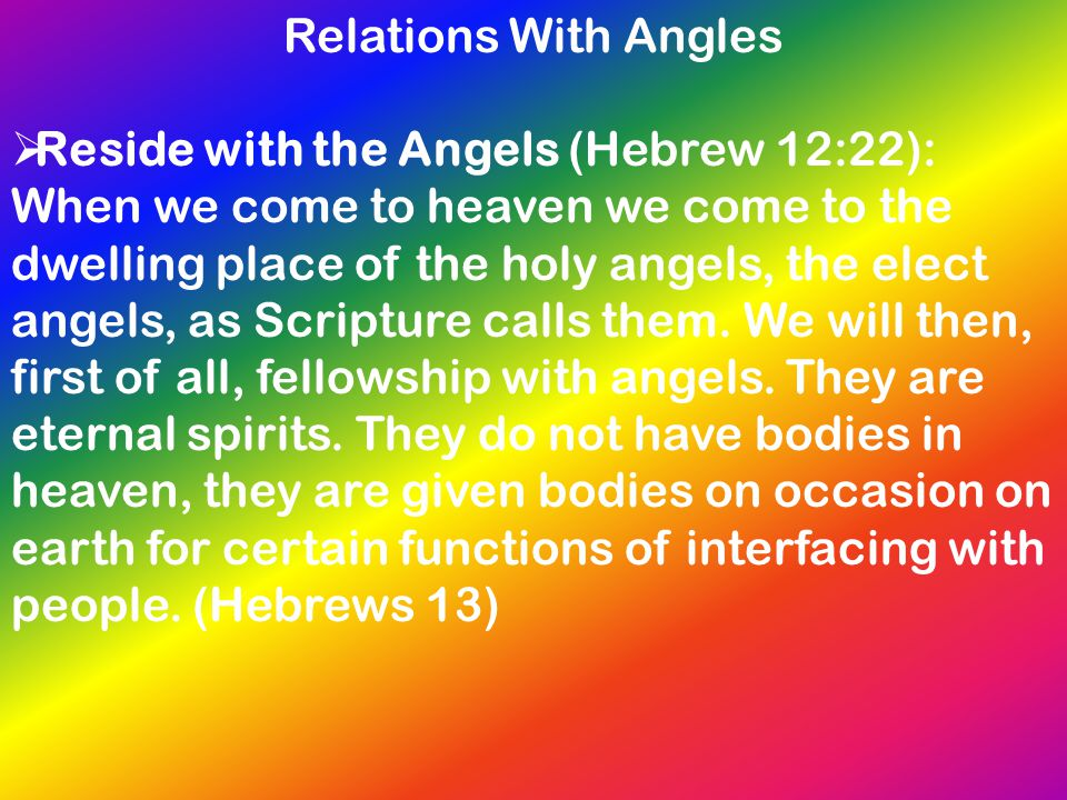 Relations With Angles