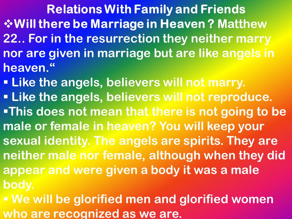 Relations With Family and Friends