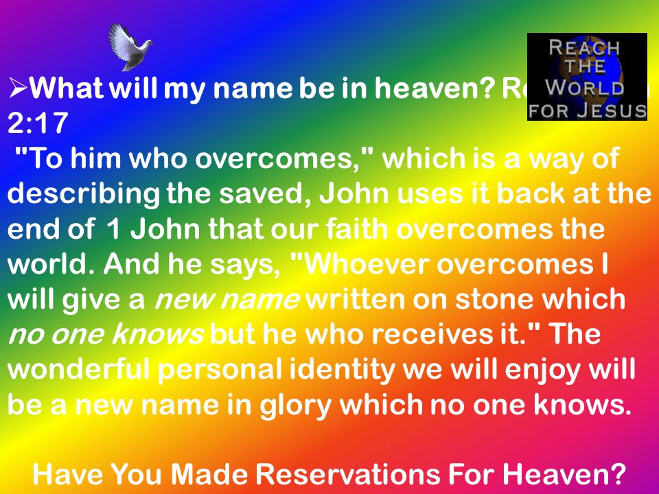 Have You Made Reservations For Heaven