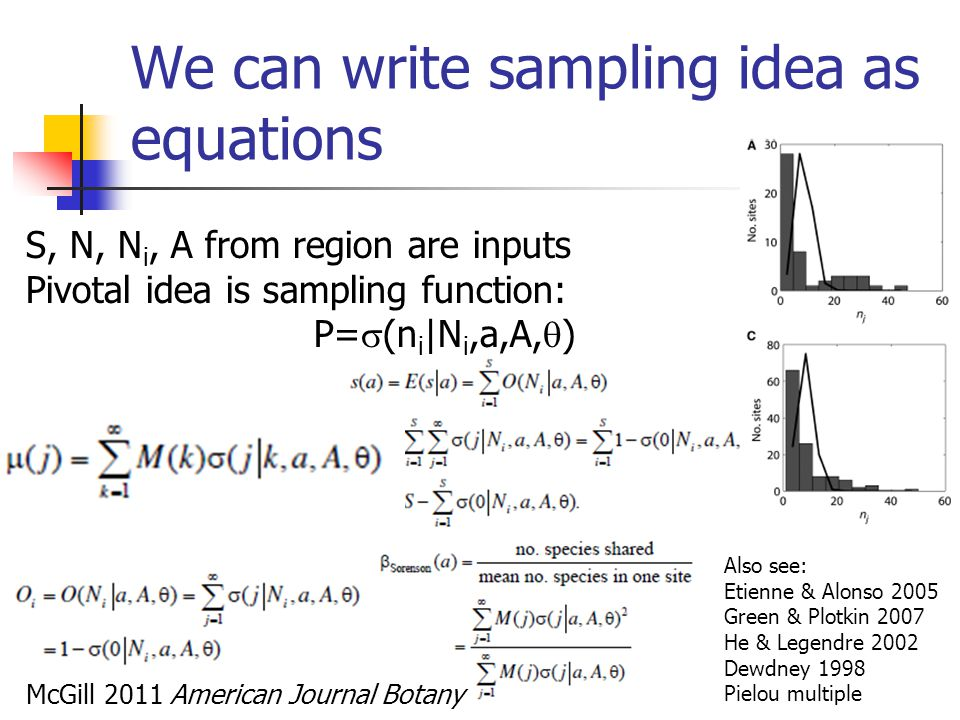 We can write sampling idea as equations
