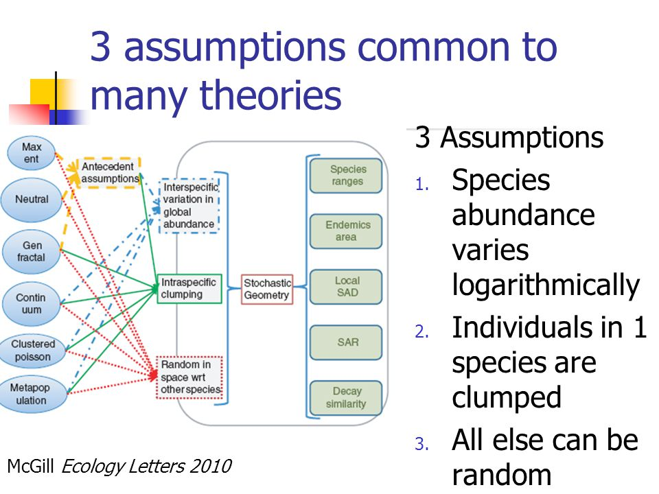 3 assumptions common to many theories