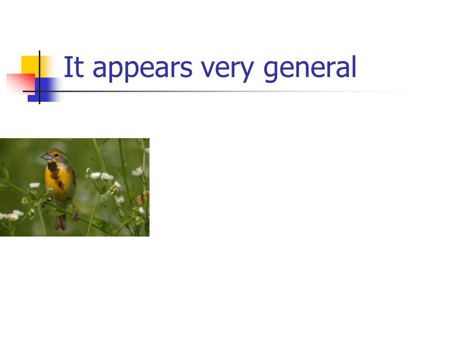 It appears very general