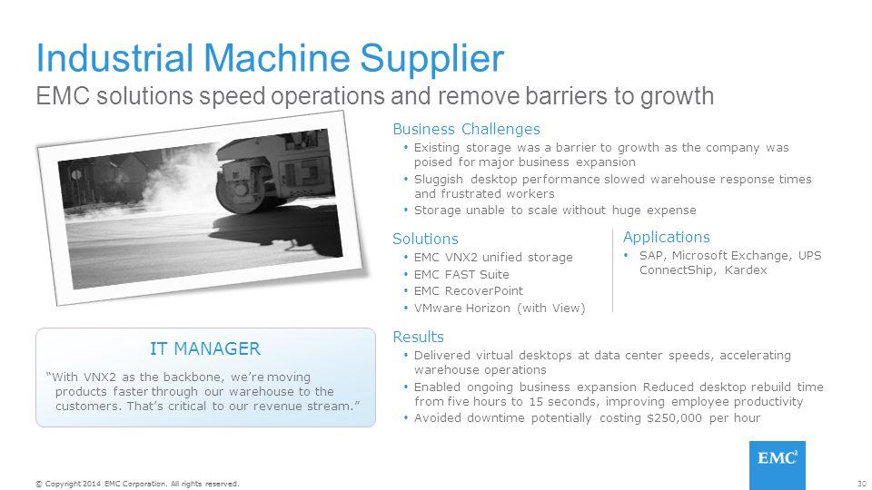 Industrial Machine Supplier