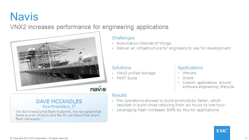 Navis VNX2 increases performance for engineering applications