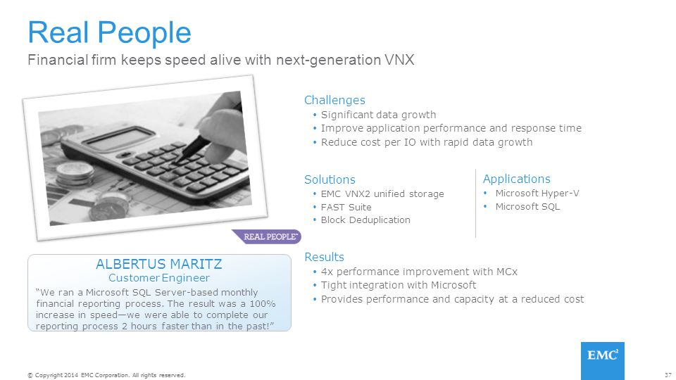 Real People Financial firm keeps speed alive with next-generation VNX