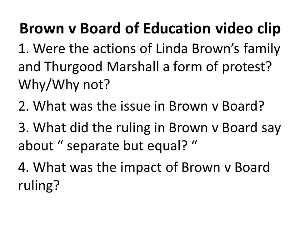 Brown v Board of Education video clip