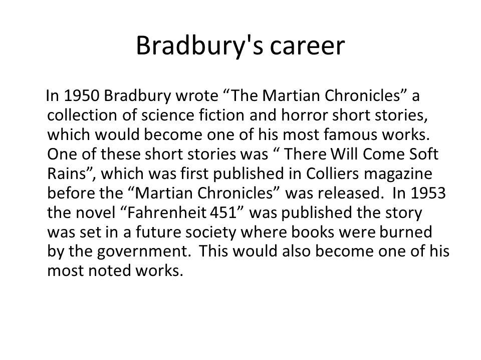 Bradbury s career