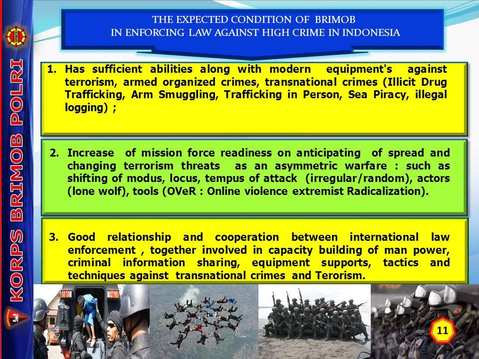KORPS BRIMOB POLRI 11 THE EXPECTED CONDITION OF BRIMOB