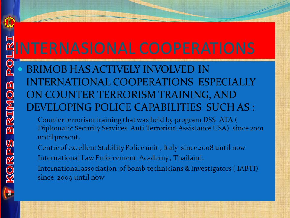 INTERNASIONAL COOPERATIONS