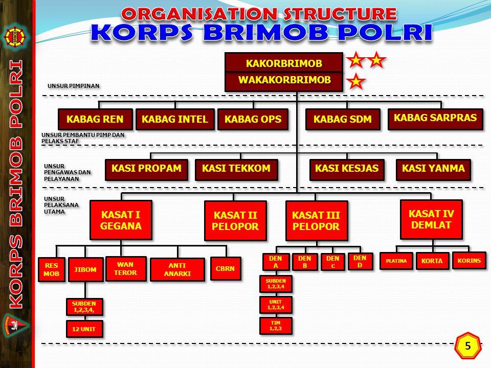 ORGANISATION STRUCTURE KORPS BRIMOB POLRI