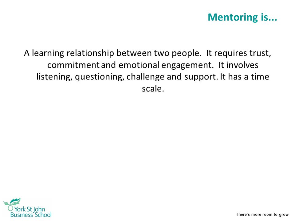 Mentoring is...