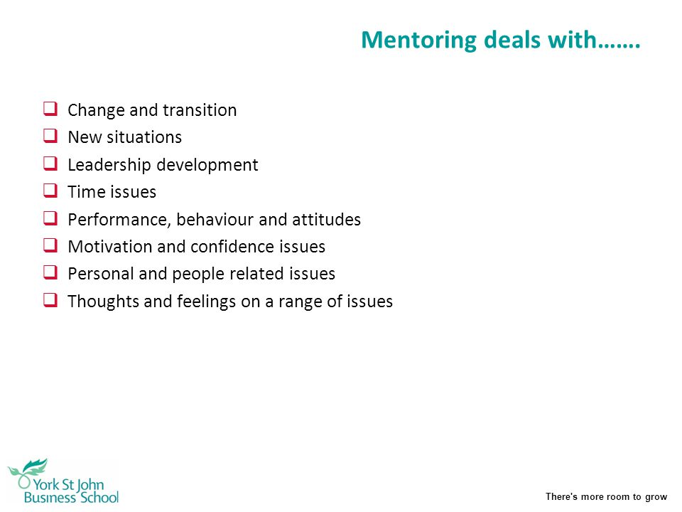 Mentoring deals with…….