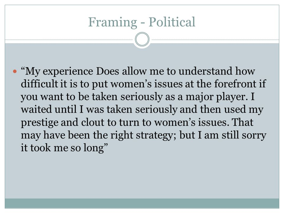 Framing - Political
