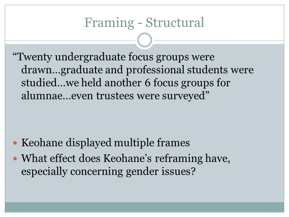 Framing - Structural