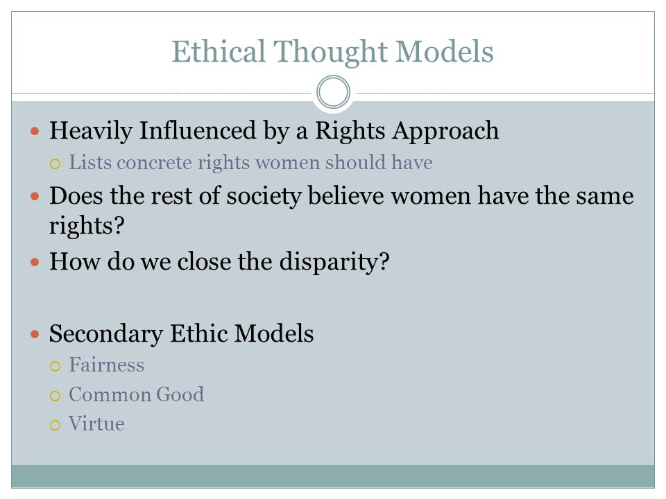 Ethical Thought Models