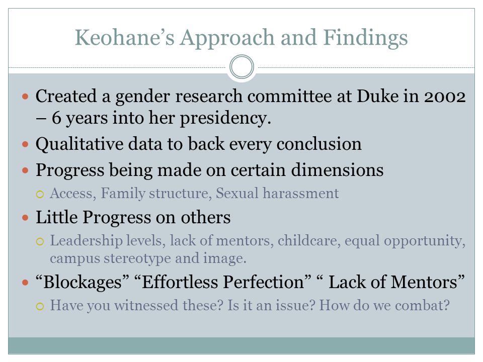 Keohane's Approach and Findings