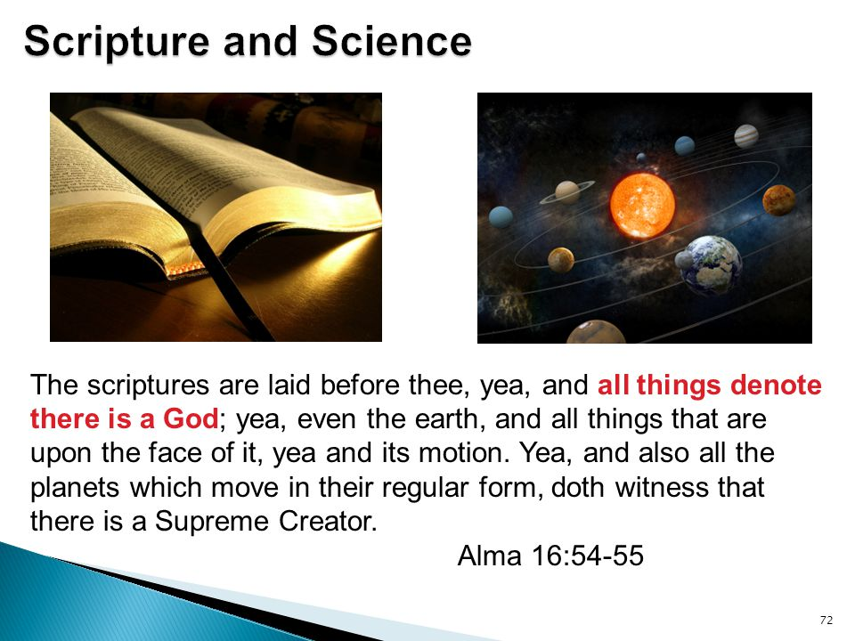Scripture and Science