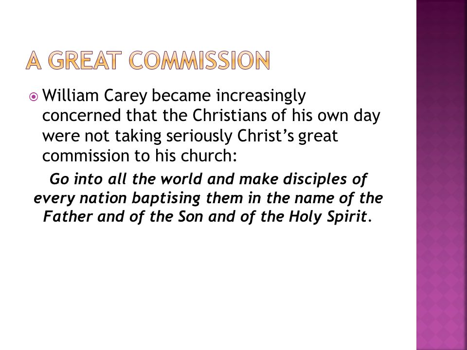 A great commission