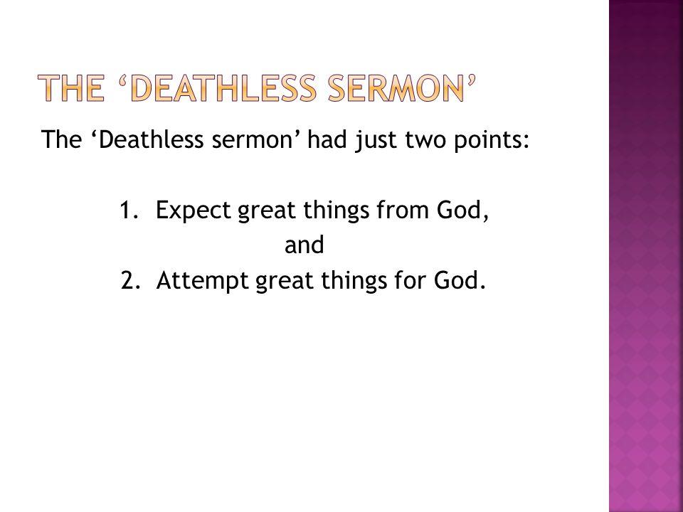 The 'Deathless Sermon'