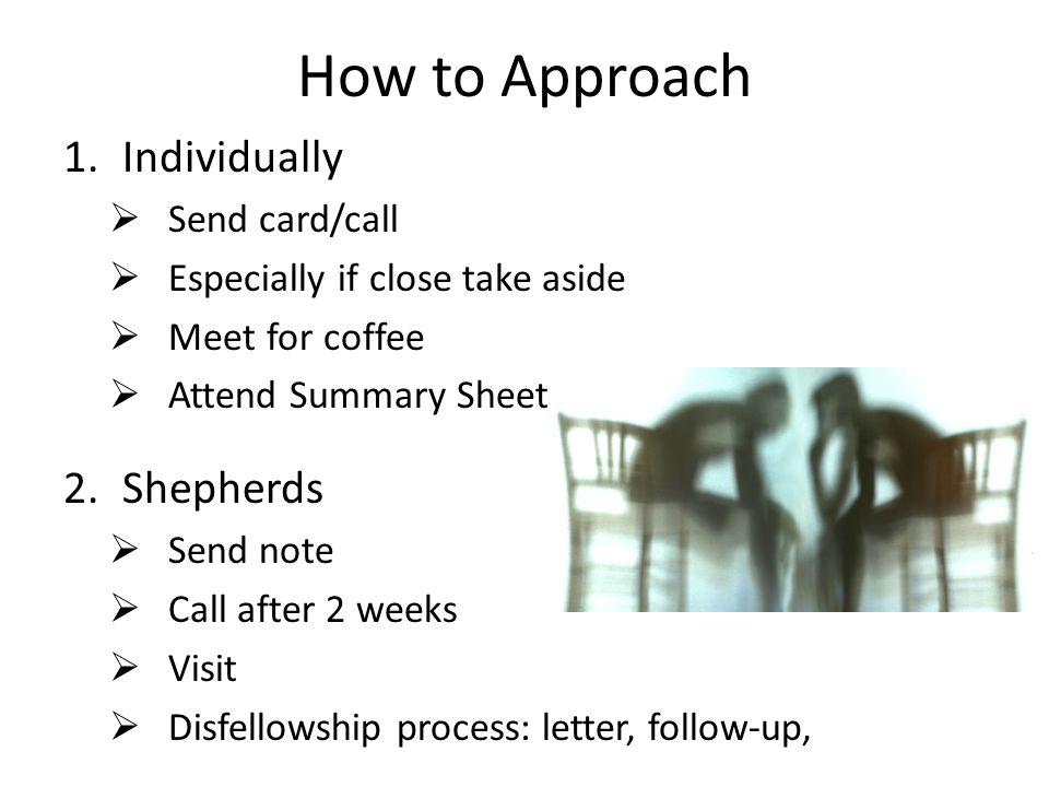 How to Approach Individually Shepherds Send card/call