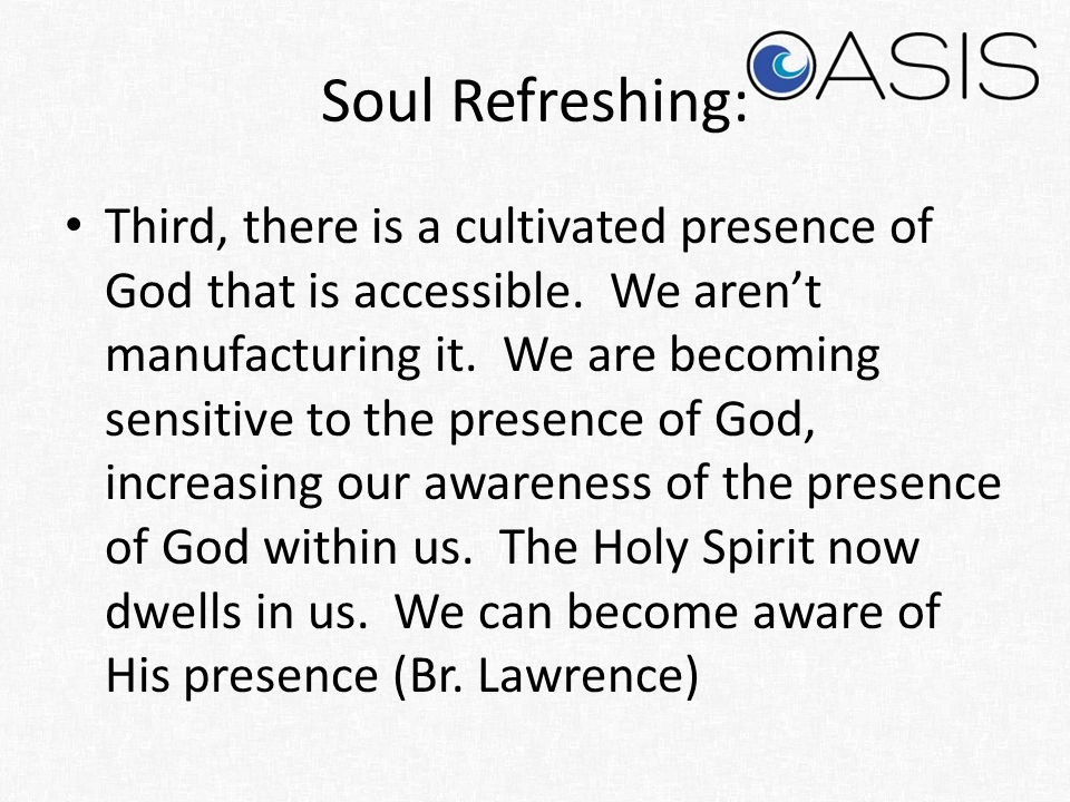 Soul Refreshing: