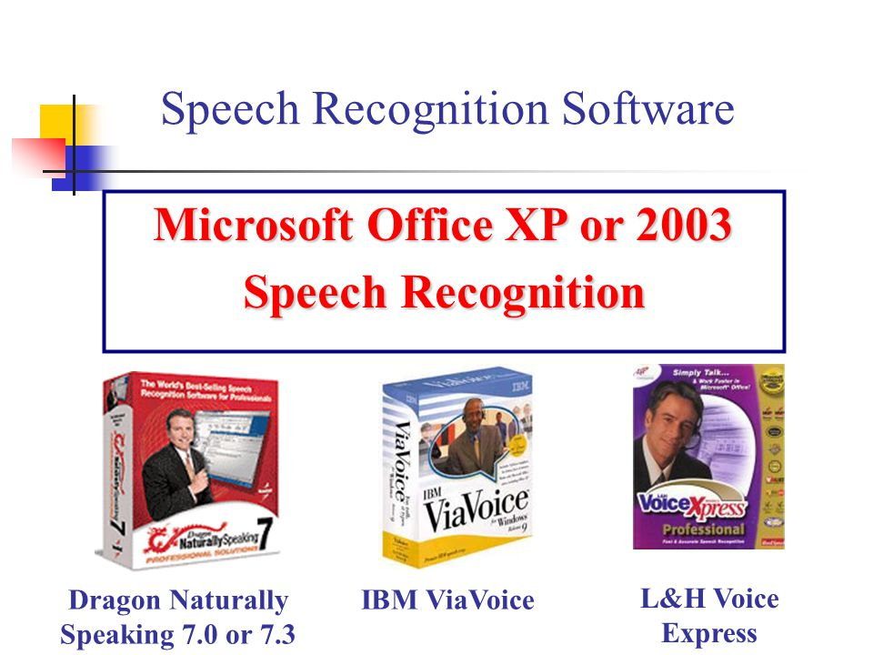 Microsoft Office XP or 2003 Speech Recognition