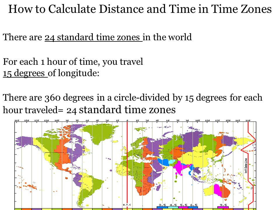 How to Calculate Distance and Time in Time Zones