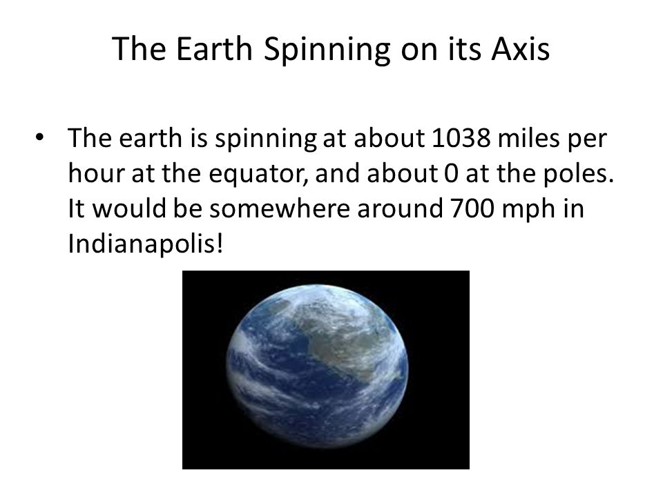 The Earth Spinning on its Axis