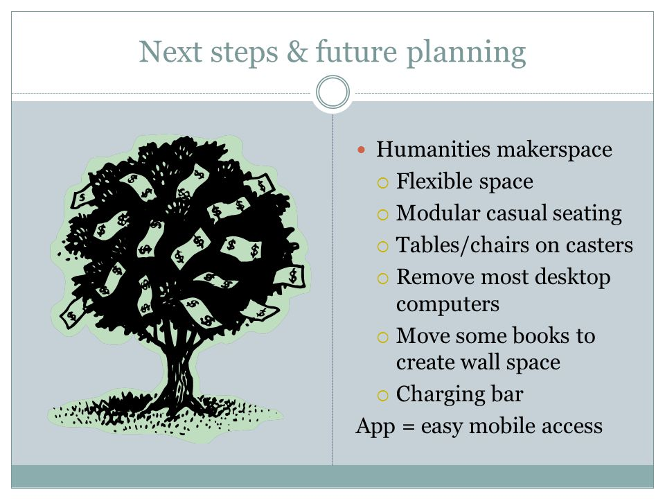Next steps & future planning