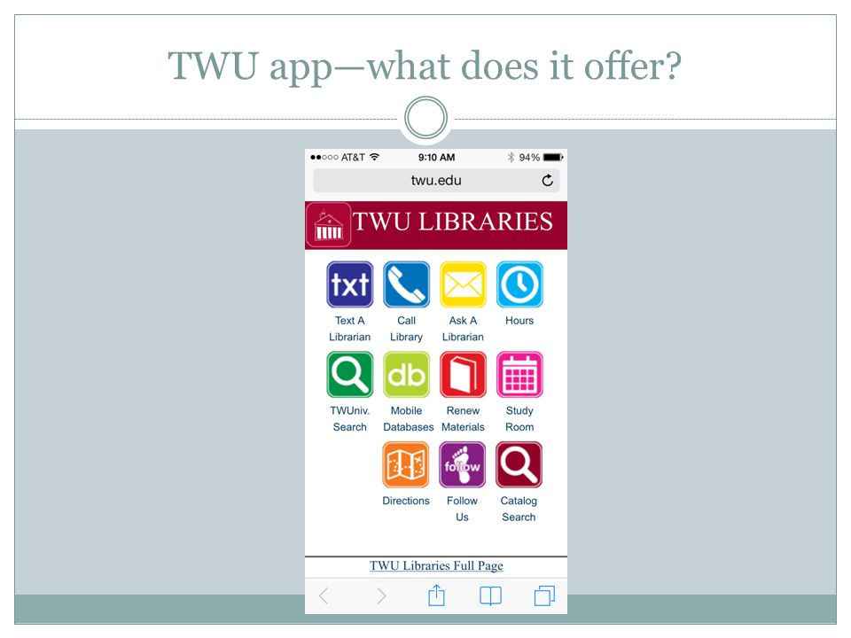 TWU app—what does it offer