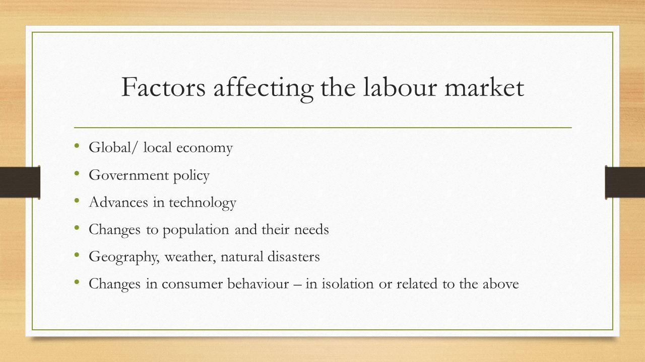 Factors affecting the labour market