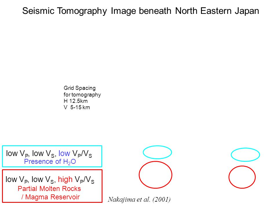Seismic Tomography Image beneath North Eastern Japan