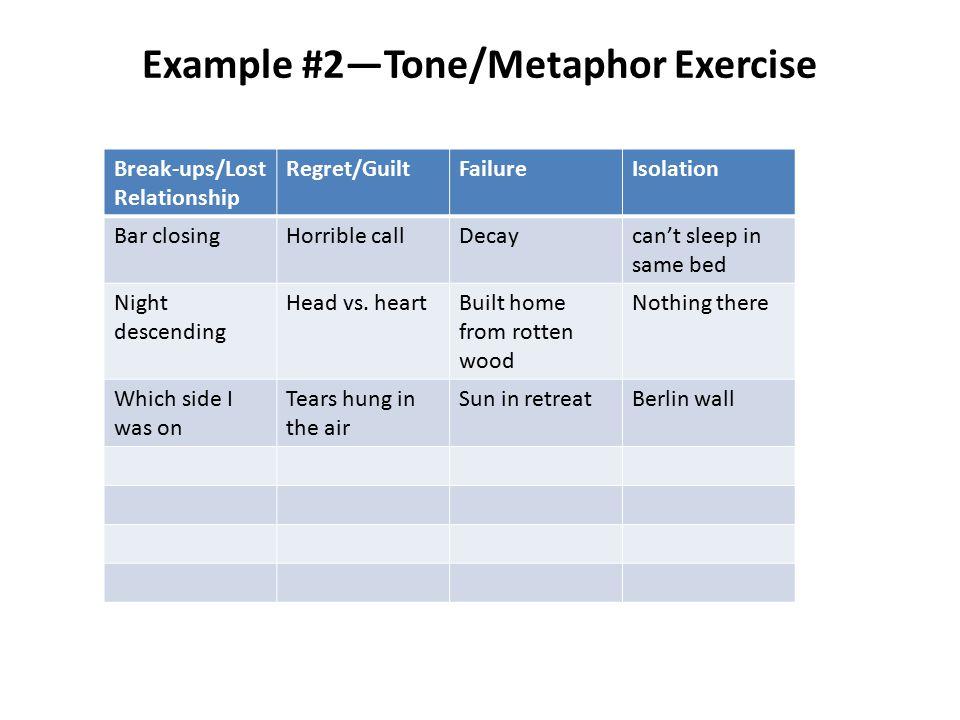 Example #2—Tone/Metaphor Exercise