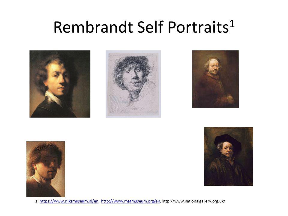 Rembrandt Self Portraits1