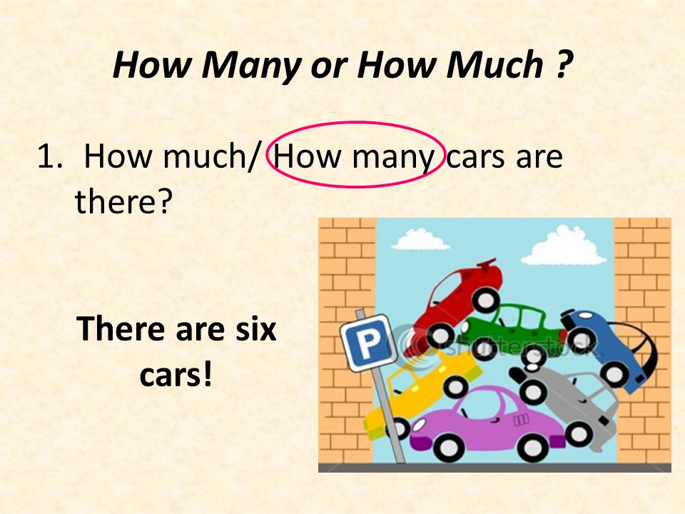 How Many or How Much How much/ How many cars are there