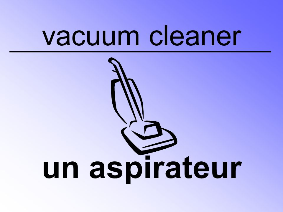 vacuum cleaner un aspirateur
