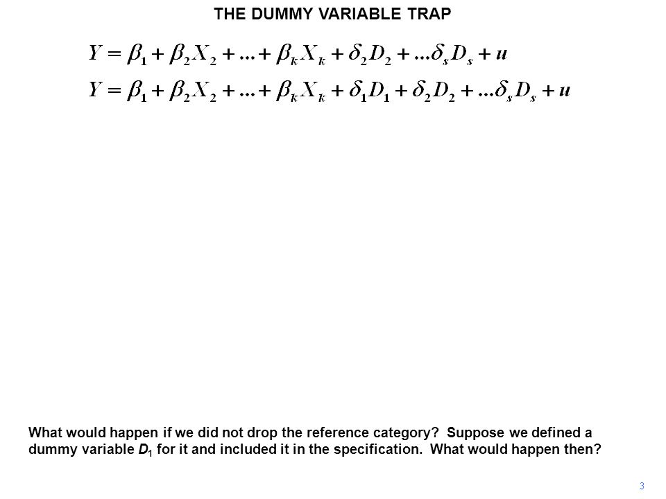THE DUMMY VARIABLE TRAP