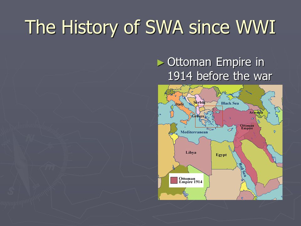 The History of SWA since WWI